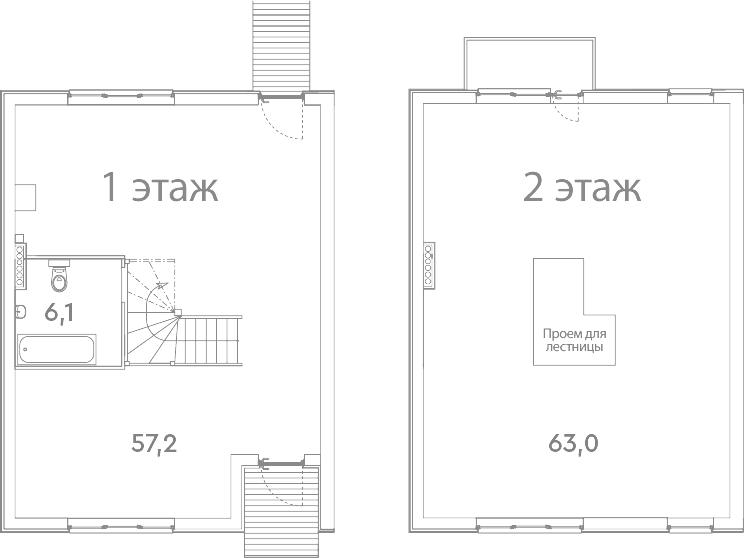 Таунхаус, 127.3 м²– 2