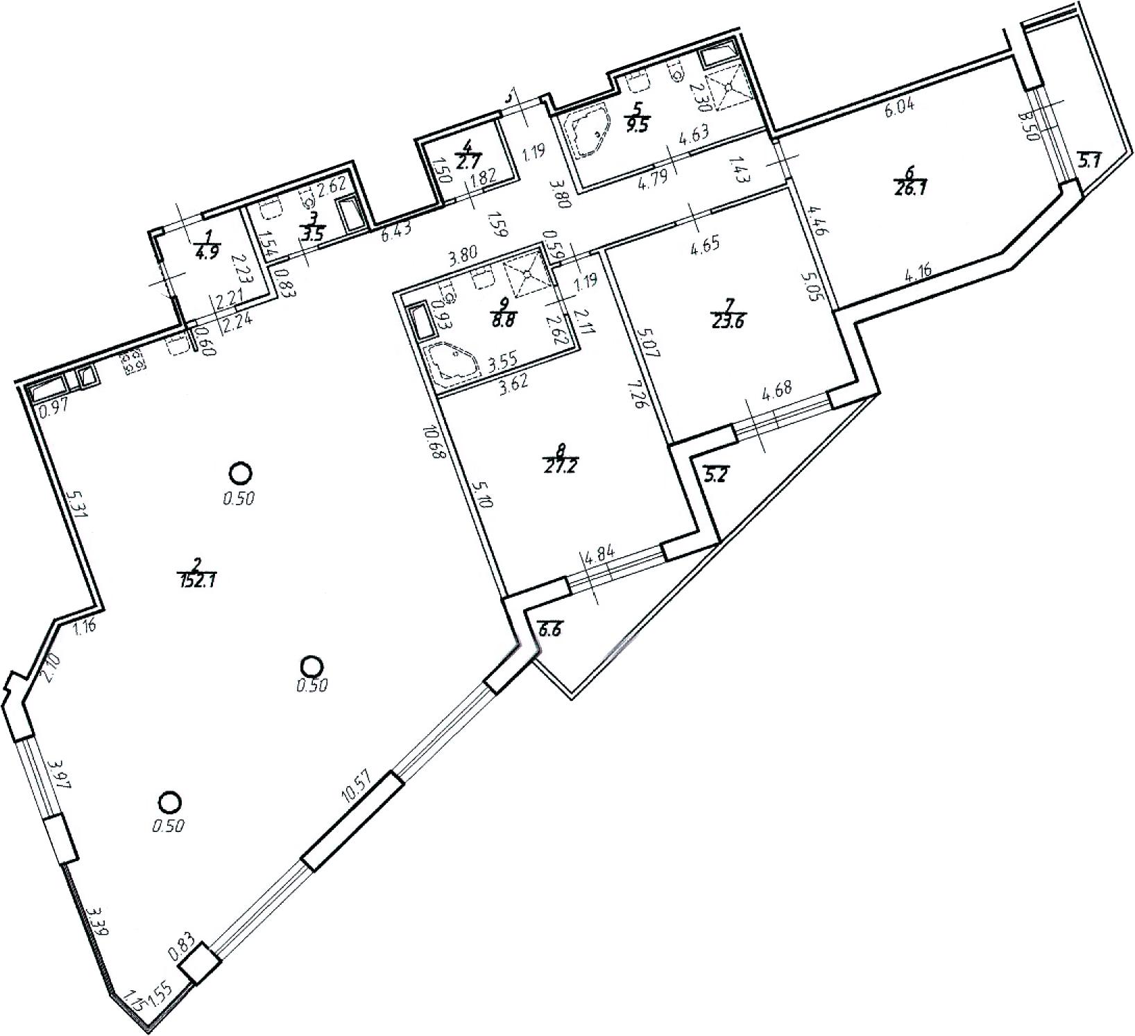 4-к.кв (евро), 275.27 м²