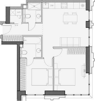 Свободная планировка, 58.7 м²– 2