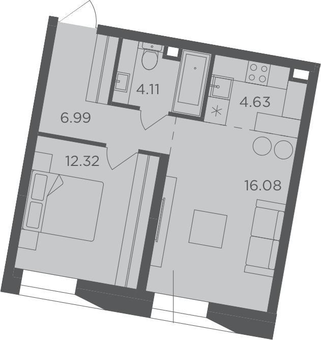 2Е-к.кв, 44.13 м²