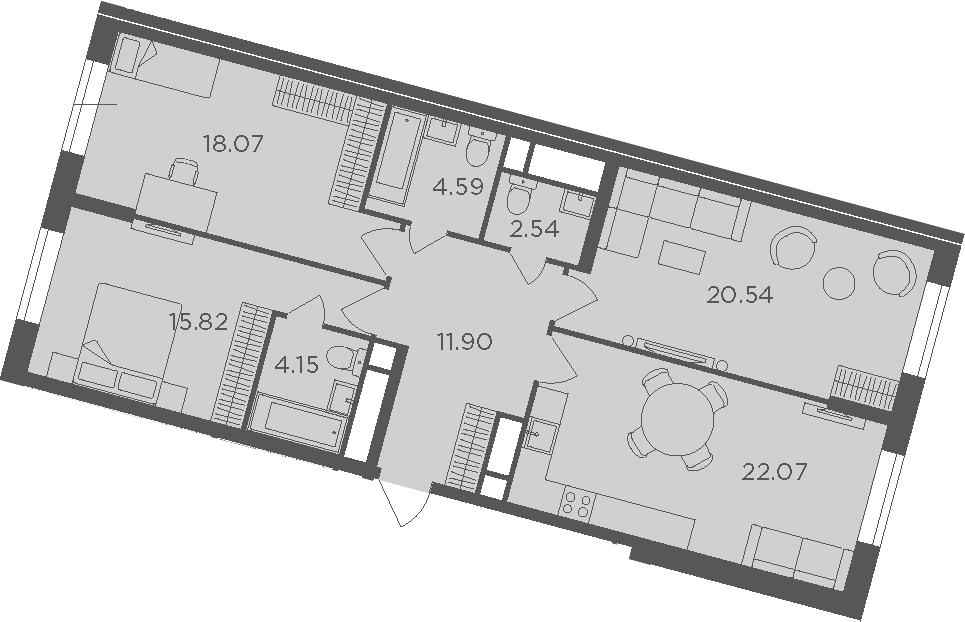 3-к.кв, 99.68 м²