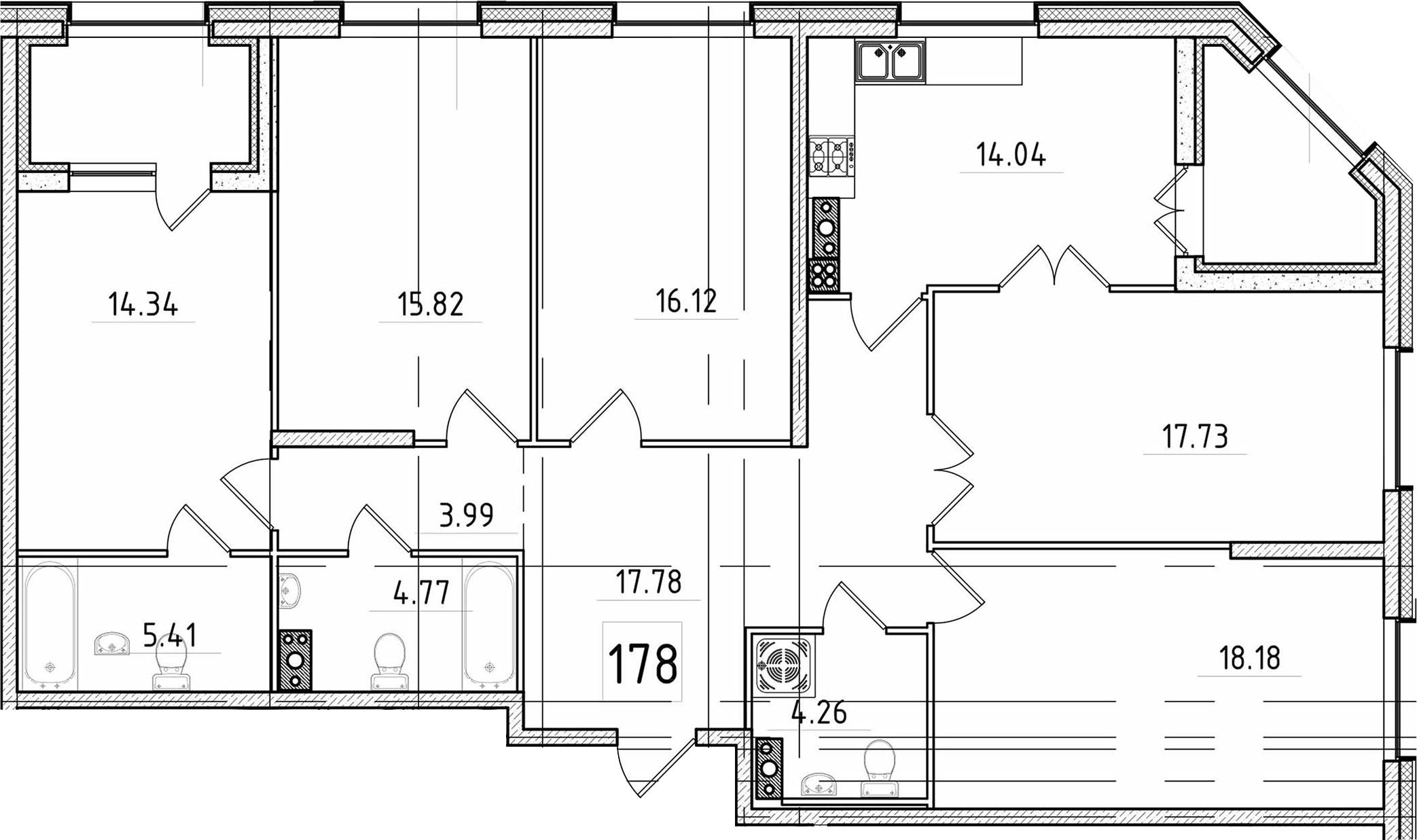 5-к.кв, 136.73 м²