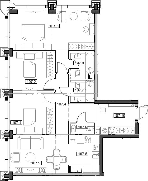4Е-комнатная, 85.52 м²– 2