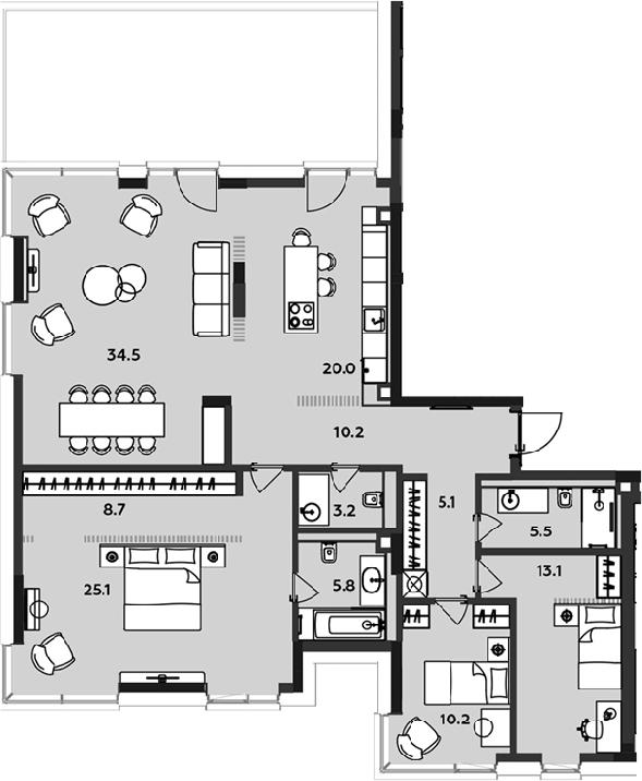 4Е-к.кв, 141.4 м²