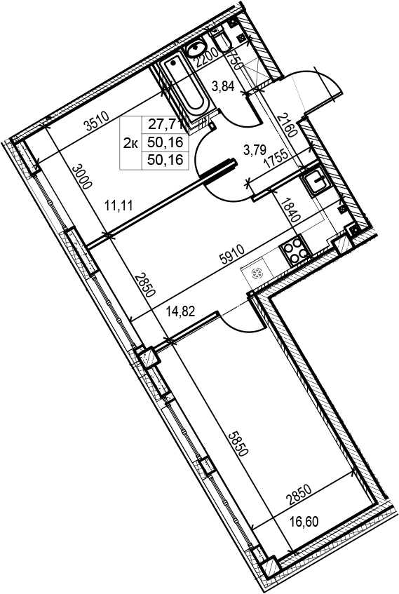 3-к.кв (евро), 50.16 м²