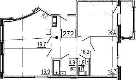 4Е-к.кв, 93.6 м², 11 этаж