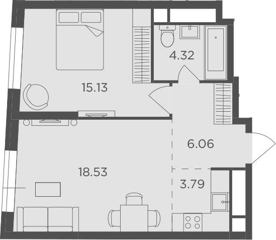 2Е-к.кв, 47.83 м²