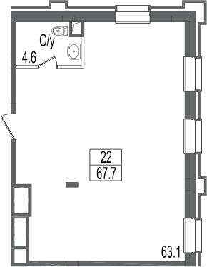 Своб. план., 67.7 м²