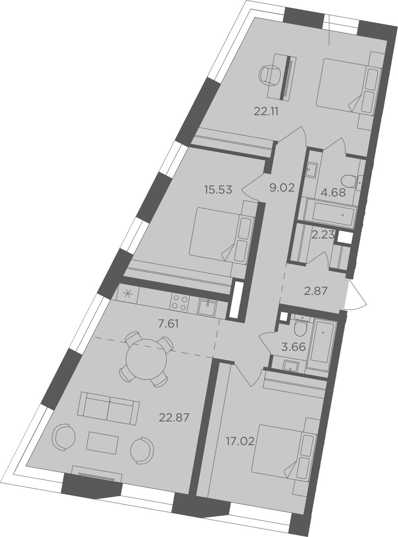 4-к.кв (евро), 107.6 м²