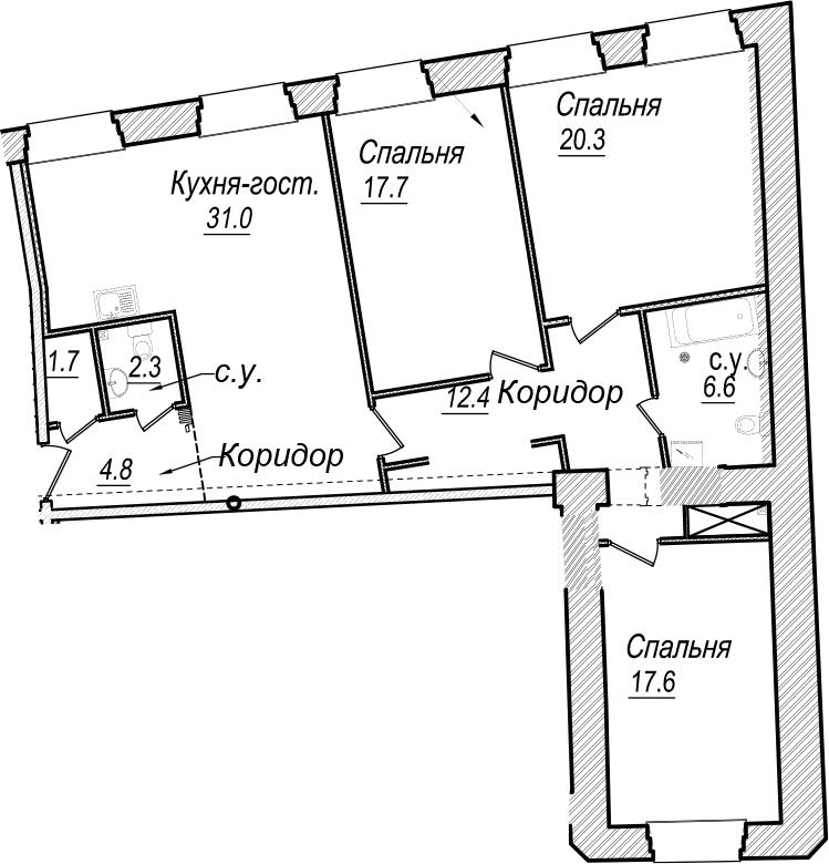 4Е-к.кв, 114.4 м²