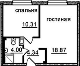 2Е-к.кв, 37.52 м², от 8 этажа