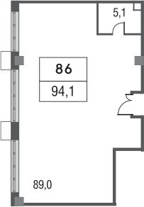 Свободная планировка, 94.1 м²– 2