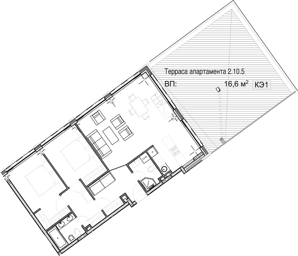 Свободная планировка, 82.88 м²– 2