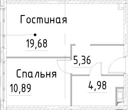 2-к.кв (евро), 40.9 м²