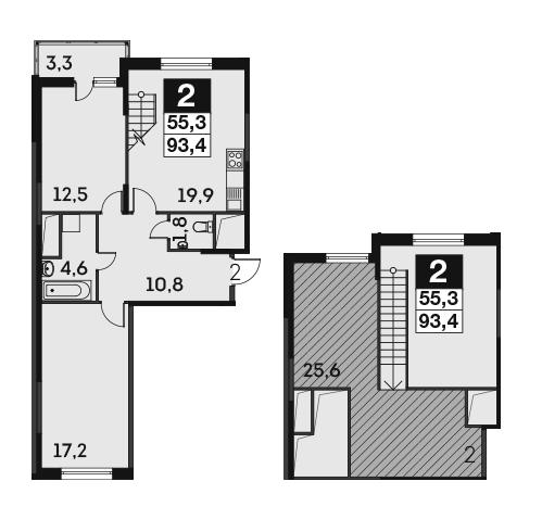 3-к.кв (евро), 95.73 м²