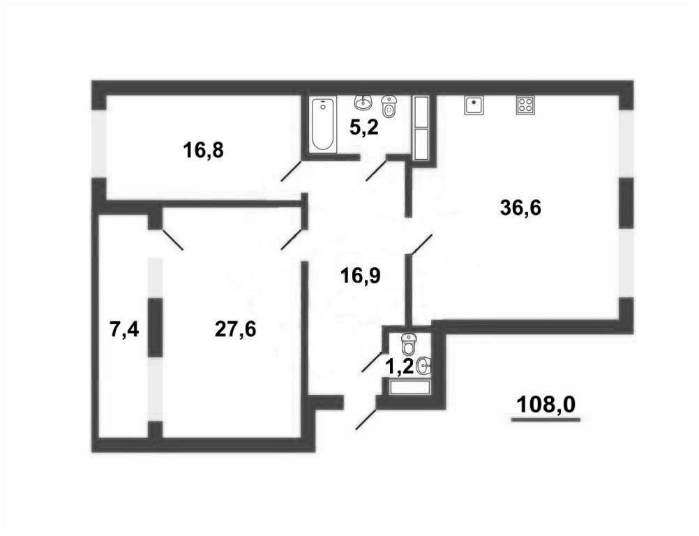 3-к.кв, 111.7 м²