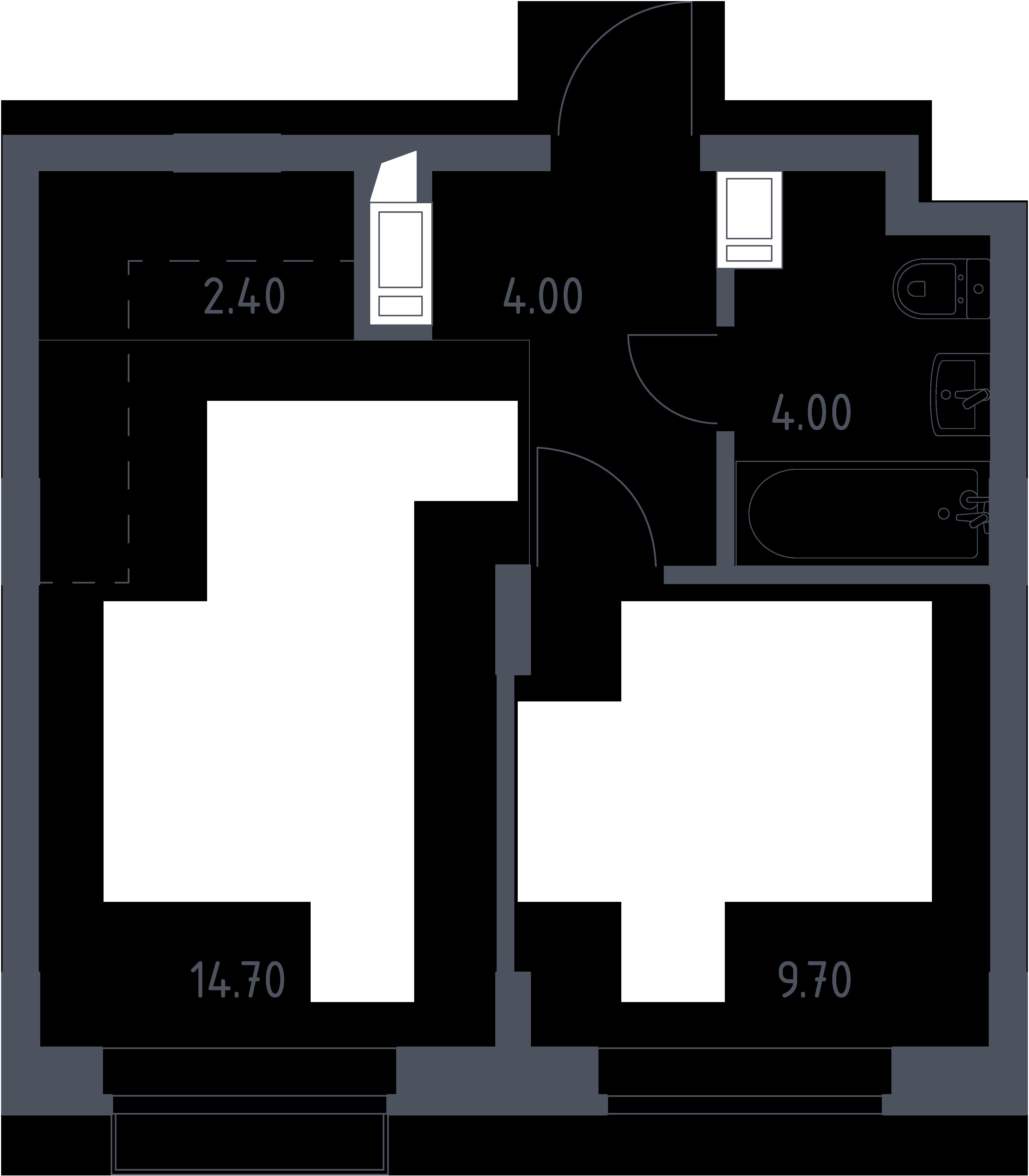 2Е-к.кв, 34.8 м², 6 этаж