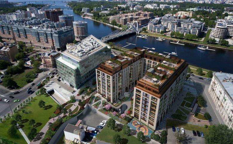 4Е-комнатная квартира, 141.7 м², 2 этаж – 7