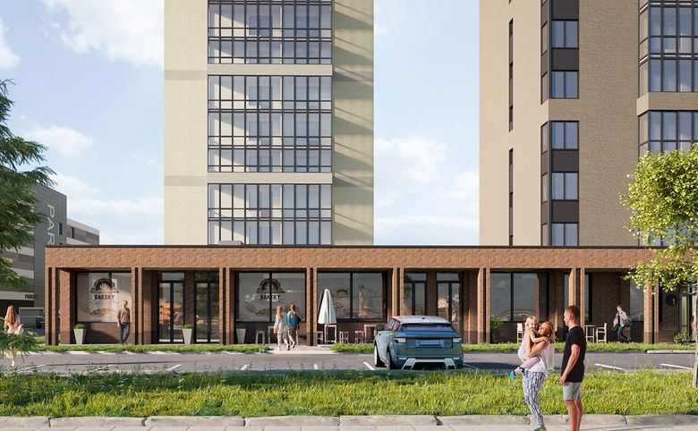 2Е-комнатная квартира, 38.83 м², 2 этаж – 7