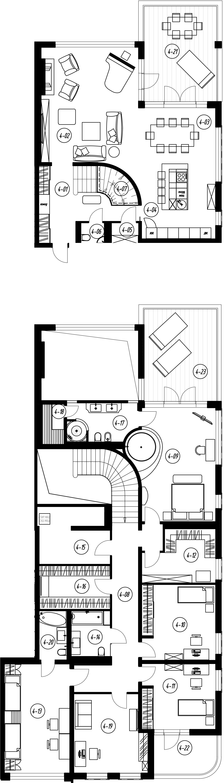 7-комнатная квартира, 308.54 м², 2 этаж – Планировка