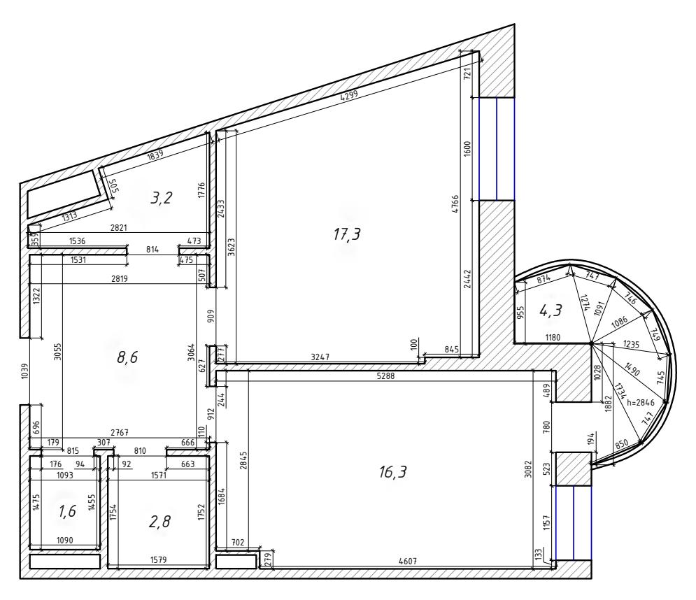 2Е-комнатная, 50.77 м²– 2