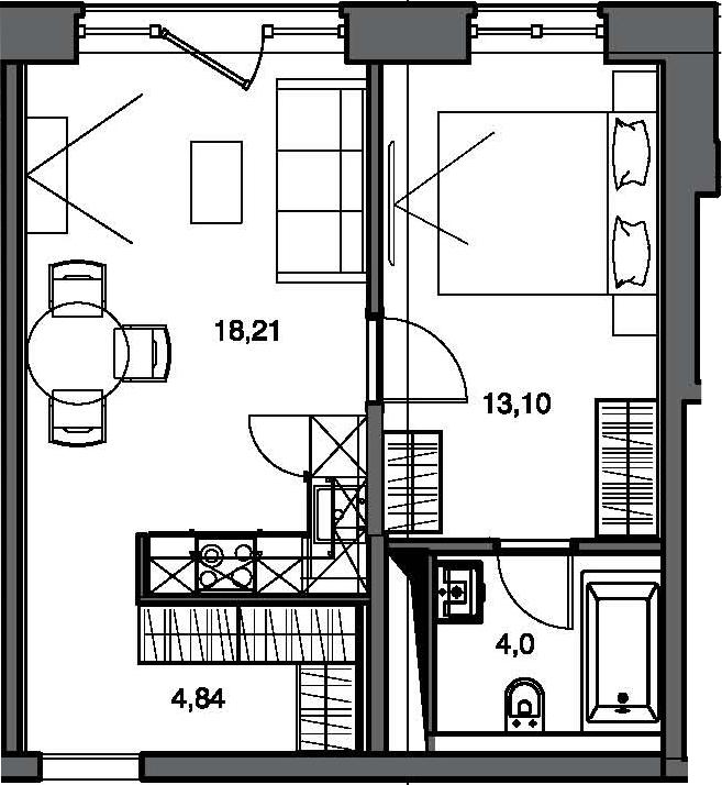 2Е-к.кв, 40.15 м²