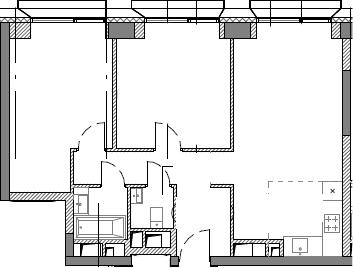 3Е-комнатная, 63.28 м²– 2