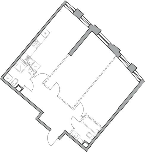 Свободная планировка, 72.84 м²– 2