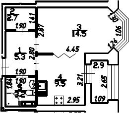 1-к.кв, 36.7 м², 13 этаж