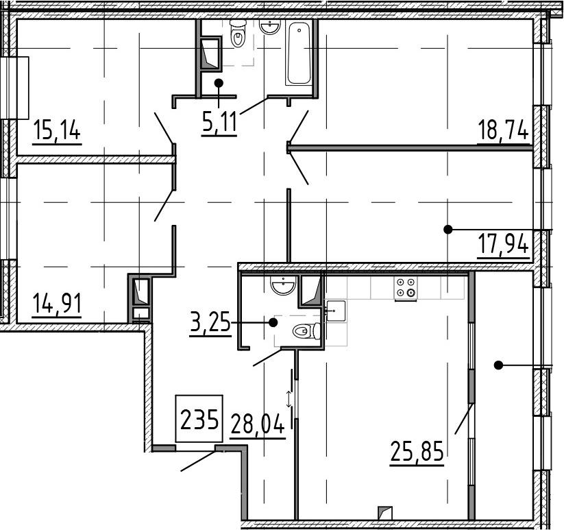 5Е-к.кв, 138.58 м²