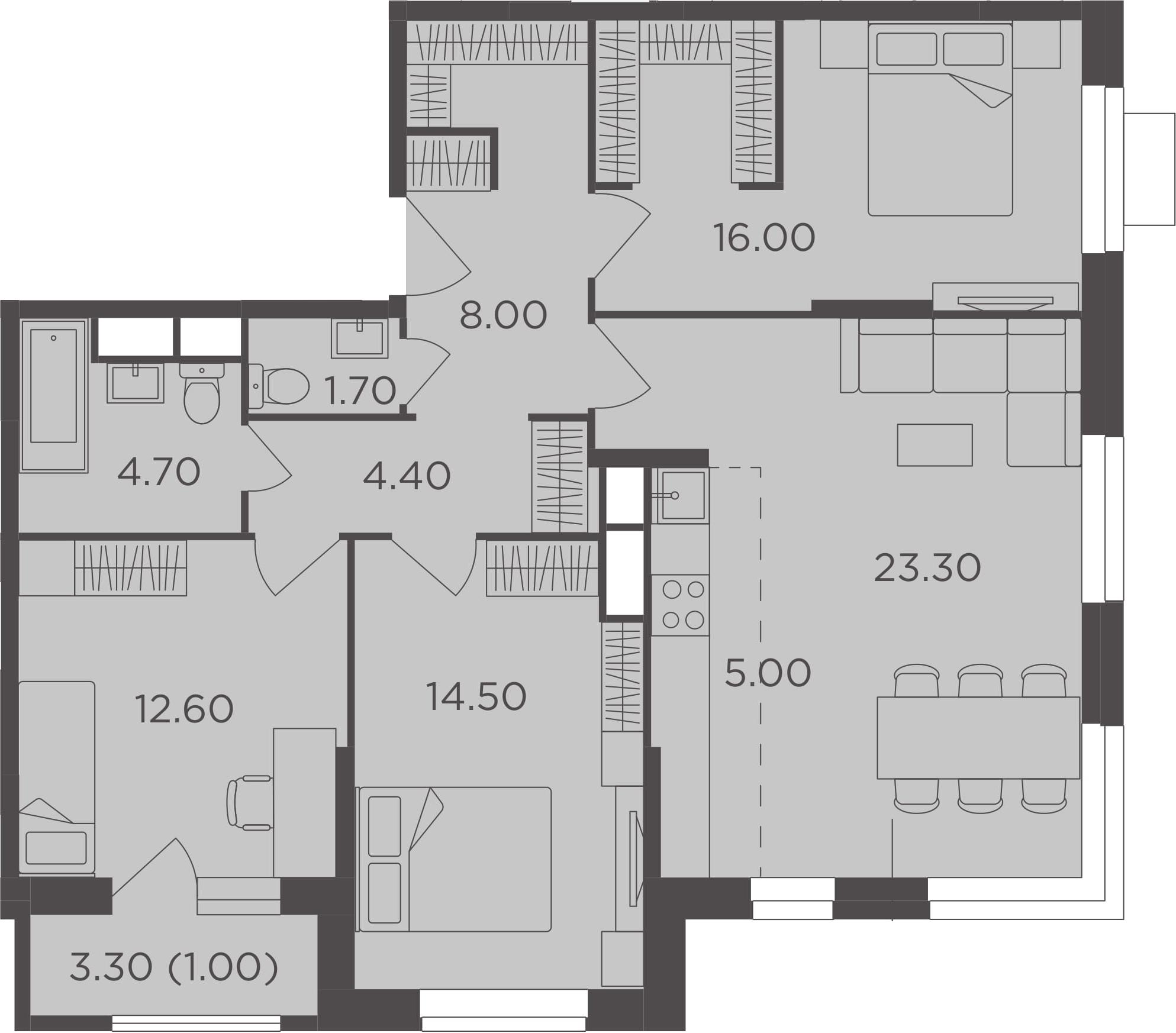 4Е-к.кв, 91.2 м²