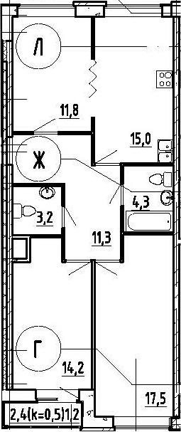 4Е-комнатная, 78.5 м²– 2