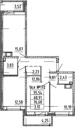 4-к.кв (евро), 76.45 м²