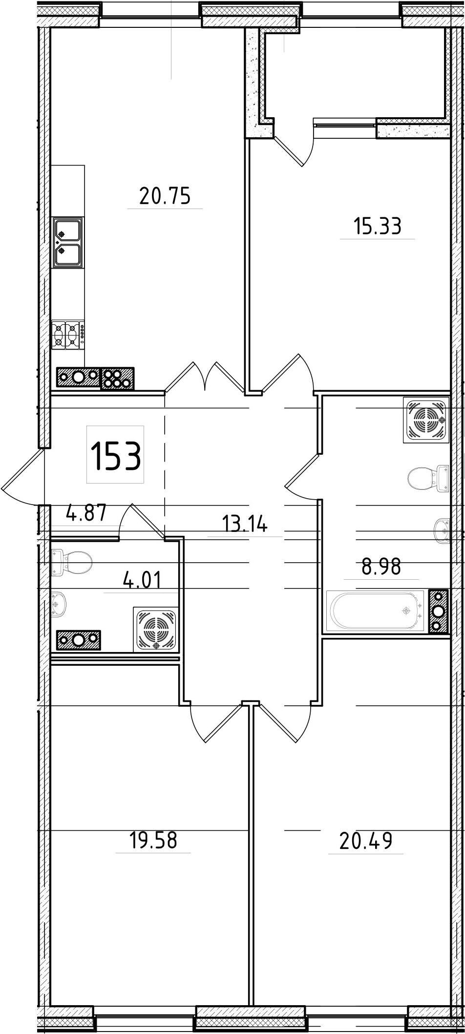 4Е-к.кв, 109.61 м², 7 этаж