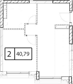 Своб. план., 40.79 м²