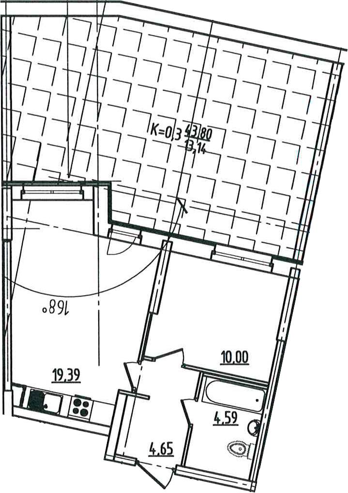 2-к.кв (евро), 82.43 м²
