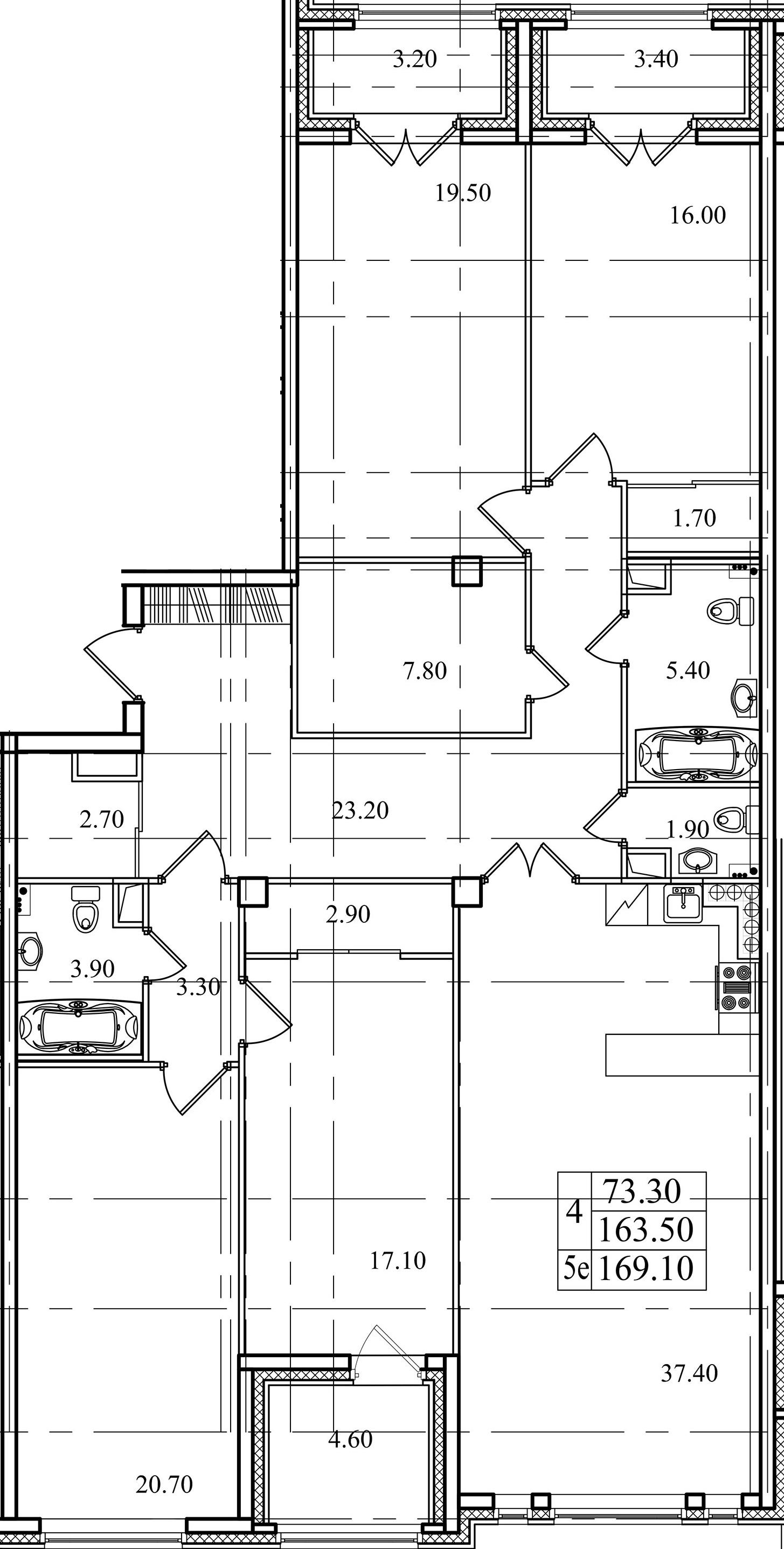 5Е-комнатная, 163.5 м²– 2