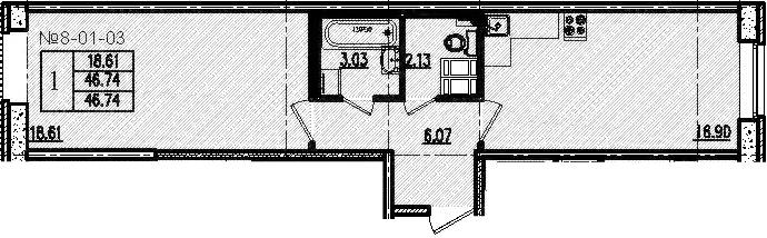 2-к.кв (евро), 46.74 м²