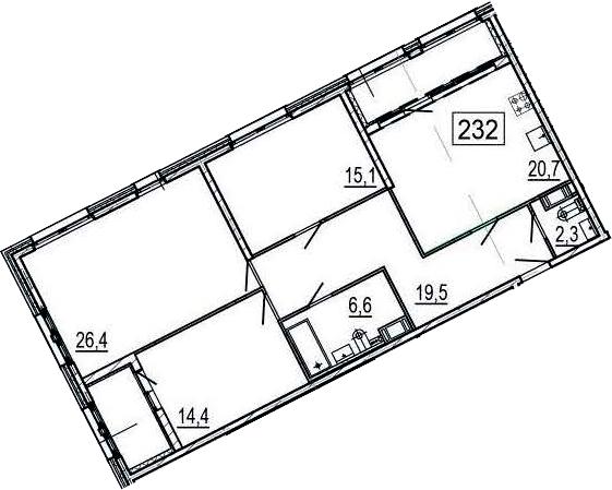 4Е-к.кв, 110.1 м²