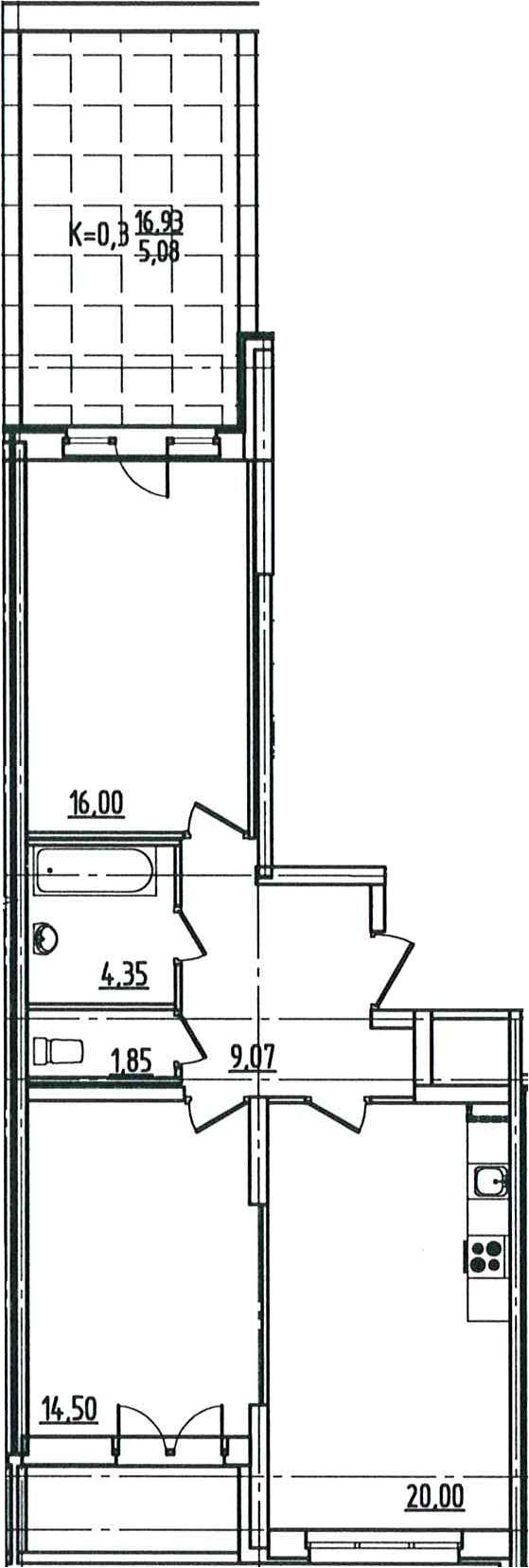 3-к.кв (евро), 86.28 м²
