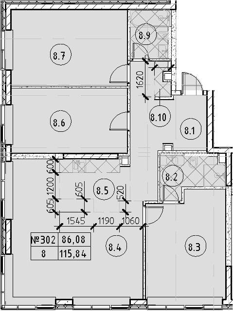 4Е-к.кв, 115.84 м²
