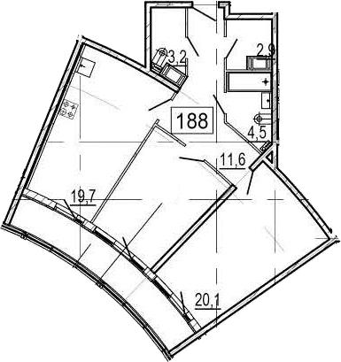 3Е-к.кв, 81.8 м², 11 этаж