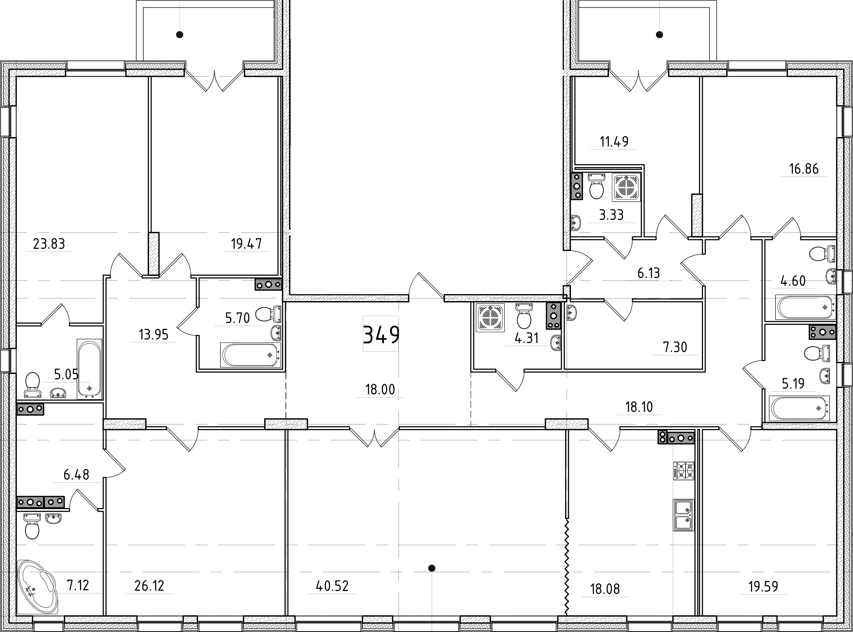 7-к.кв, 284.54 м²