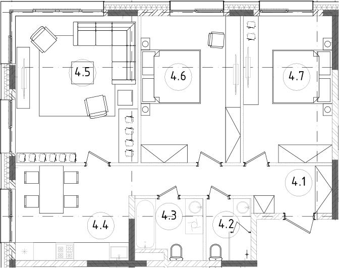 3-к.кв, 79.3 м², 10 этаж