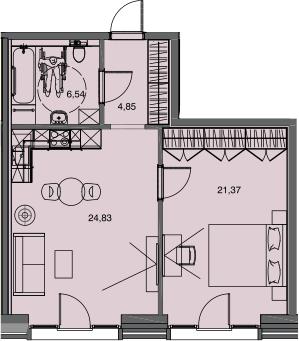 2Е-к.кв, 57.59 м²