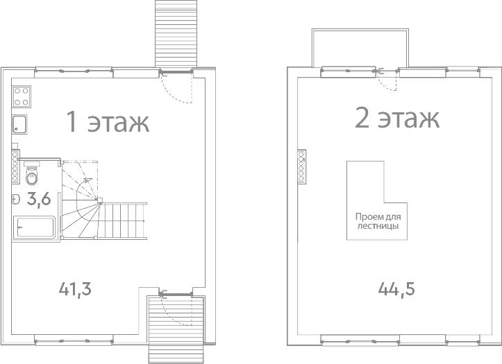 Таунхаус, 90.4 м²– 2