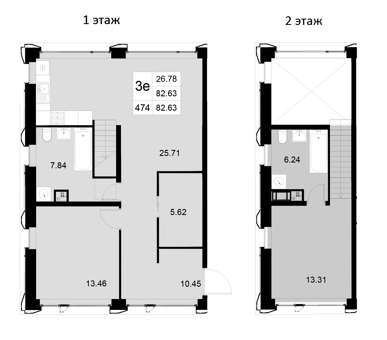 3Е-к.кв, 82.63 м²