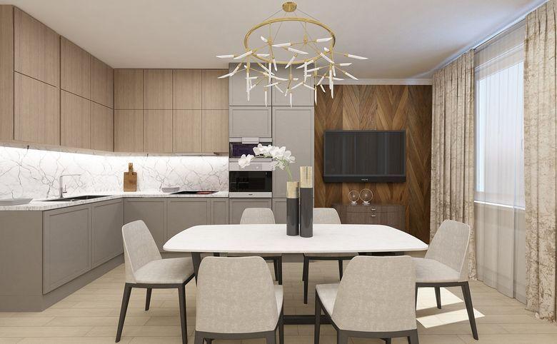 3Е-комнатная квартира, 55.62 м², 2 этаж – 6