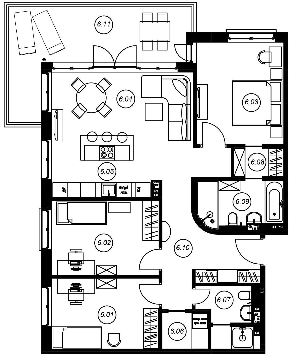 4Е-комнатная, 96.6 м²– 2