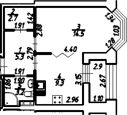 1-к.кв, 36.5 м², 11 этаж
